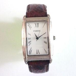 Fossil Women's Brown Leather Bracelet Watch